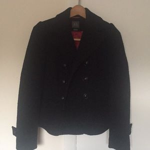 Armani exchange 100% wool coat